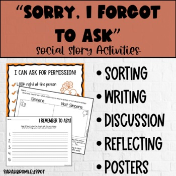 """""""Sorry, I Forgot to Ask"""" Social Story Activity Pack"""