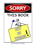 """""""Sorry, This Book is All Out of Words!""""- book & coloring book set"""