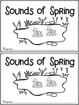 """""""Sounds of Spring"""" An April/Spring Emergent Reader and Res"""