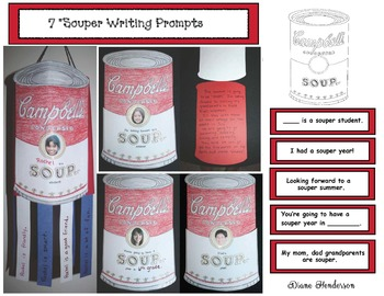 """""""Souper"""" Writing Prompt Craftivity With 7 Options"""