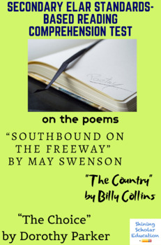 """""""Southbound on the Freeway"""", """"The Country"""", & """"The Choice"""" Poetry Reading Test"""