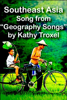 """""""Southeast Asia"""" Sing-along mp4 Video from """"Geography Songs"""" by Kathy Troxel"""