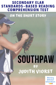 """Southpaw"" by Judith Viorst Multiple-Choice Reading Comprehension Quiz/Test"