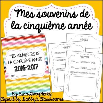 {Souvenirs de la cinquième année!} A memory book for the end of the year