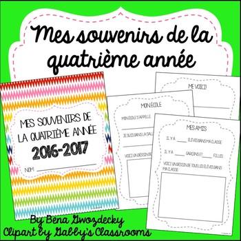 {Souvenirs de la quatrième année!} A memory book for the end of the year