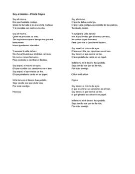 Canción:  Soy el mismo - IPA like activity with Preterite / Imperfect