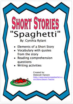 """""""Spaghetti"""" by Cynthia Rylant"""