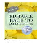 ~ SPANISH Editable Back to School Letter! ~  Carta para re