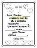 """(Spanish) Handout - """"Para Dios tan amado el mundo"""" John 3:"""