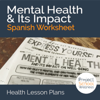 (Spanish, Inside Out Lesson Plans) Inside Out: Mental Heal