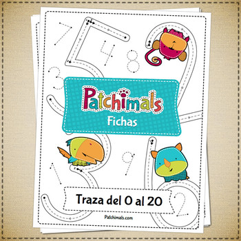 [Spanish] Numbers Tracing Worksheets - 0 to 20