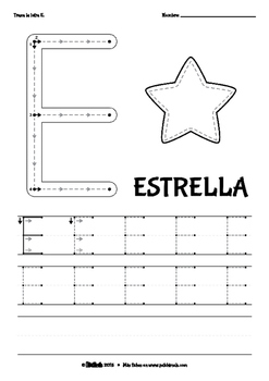 [Spanish] Vowels Tracing Worksheets - Uppercase