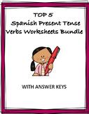 Spanish Present Tense Verbs: El presente - TOP 4 Worksheets @35% off!