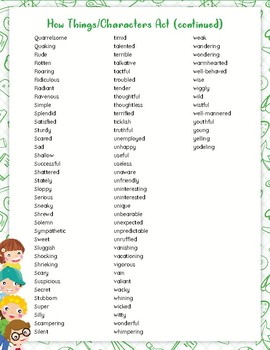 """Sparkle"" Words for Writing"