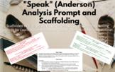 """Speak"" (Anderson) Analysis Writing"