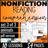 Reading Passages: Animals {Nonfiction Set 3/3} Vocabulary Practice (PDF)