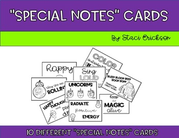 """""""Special Notes"""" Cards"""