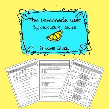 The Lemonade War Novel Study: Growing Bundle