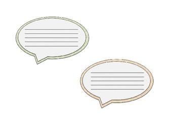{Speech Bubbles} Clip Art Set {FREEBIE}!!!