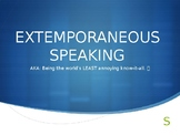 (Speech and Debate) Extemporaneous Speaking PowerPoint Intro