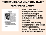 """""""Speech from Kingsley Hall"""" - Mohandas Gandhi - Global/World History"""