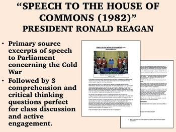 """Speech to the House of Commons (1982)"" - Ronald Reagan - Cold War - USH/APUSH"
