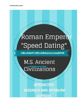 """""""Speed Dating"""" w/Ancient Roman Emperors"""