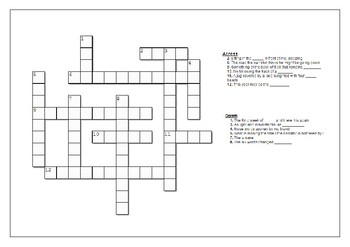 'Spies' - Michael Frayn - Revision Crossword Starter - Chapter One