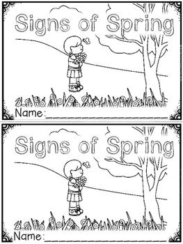 """Signs of Spring"" (A Spring Emergent Reader Dollar Deal)"