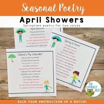 Partner Poems for Fluency Practice ~Spring Themed Poetry~