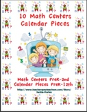 Math Centers - Calendar Pieces_ and Math Centers - Counting