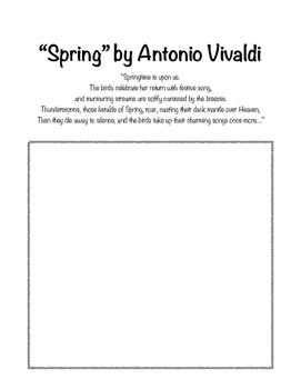 """""""Spring"""" by Vivaldi drawing worksheet"""