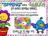 """Spring"" into Addition Board Games for Math"