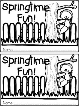 """Springtime Fun"" An April/Spring Emergent Reader and Respo"