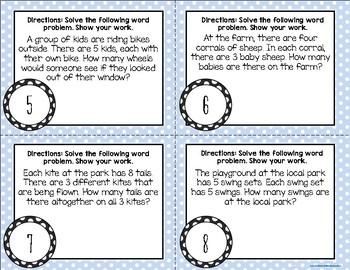 {Springtime} Multiplication Word Problem Task Cards