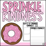 Sprinkle Kindness Writing Activity - Back to School - Donut Activity