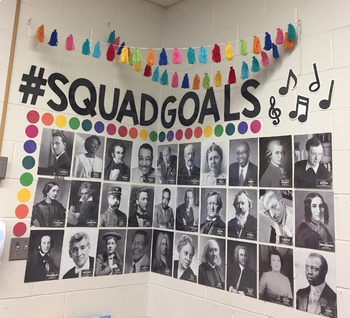 #SquadGoals: Composer Edition - GROWING SET - Title, Nametags, and Dots ONLY