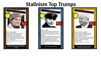 Stalin's Russia Top Trumps Game - 61 cards