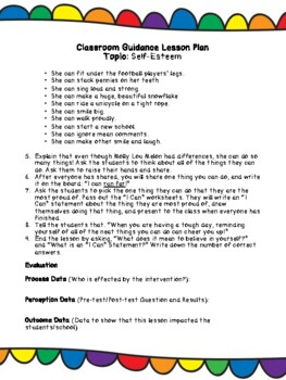 """""""Stand Tall, Molly Lou Melon"""" Lesson Plan and Worksheet"""