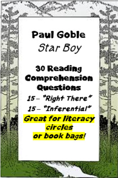 """""""Star Boy"""" by Paul Goble - reading comprehension questions"""