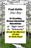 """Star Boy"" by Paul Goble - reading comprehension questions"
