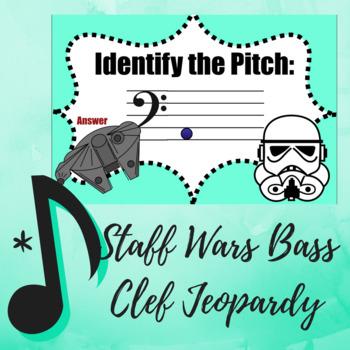 """""""Star Wars"""" Bass Clef Jeopardy Game"""