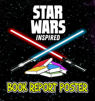'Star Wars' inspired book report poster