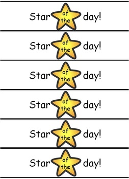 'Star of the day' reward wristbands | English and Welsh