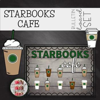 Starbooks Cafe Coffee Themed Bulletin Board (editable cups sleeves)