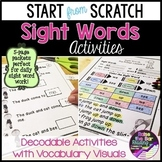 Start from Scratch Sight Word Activities - Sight words in
