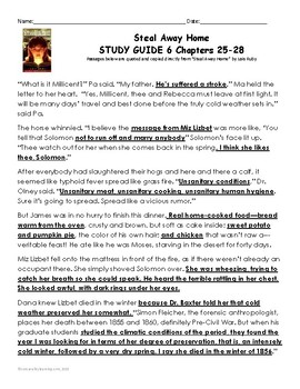 """Steal away home"""" by lois ruby (study guide) chapters 1-6 