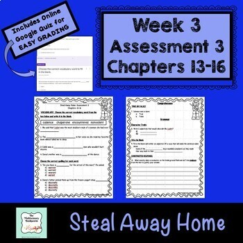 """""""Steal Away Home"""" by Lois Ruby Assessment 3: Chapters 13-16"""