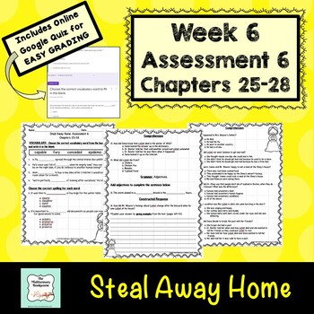 """Steal Away Home"" by Lois Ruby Assessment 6: Chapters 25-28"