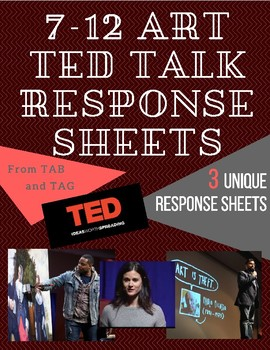 7-12 Art TED Talk Response Menus (3-Pack)